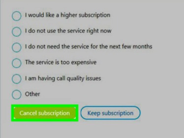 how to cancel subscriptions